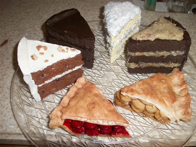 Assorted Cake And Pie Slices Prices Vary
