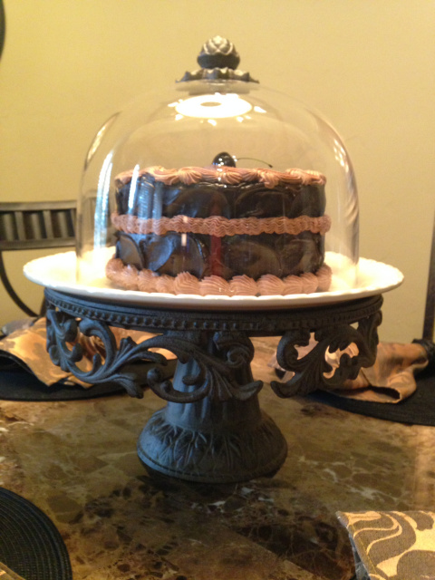 double chocolate 2 layer cake
