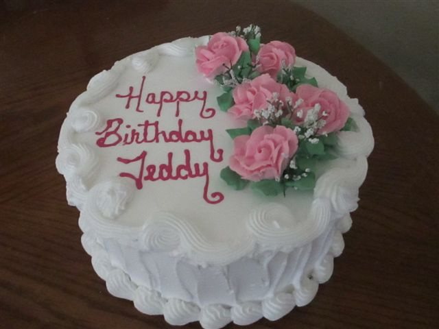 Pink Rose Happy Birthday Cake See Our Birthday Cakes Page