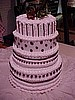 Chocolate Dots and Stripes Tier Cake