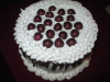 Bakery Black Forest Cake Topped with Cherries