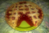 Cherry Pie with Slice out Created in Your Favorite Pie Plate