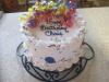 Balloons and Confetti Birthday Cake