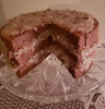 German Chocolate Cake With Slice Out Cake look