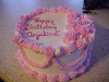 Flowered Girl Birthday Cake