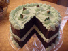 Mint Cake With Slice out