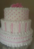 Pink and White Accents and Dots cake