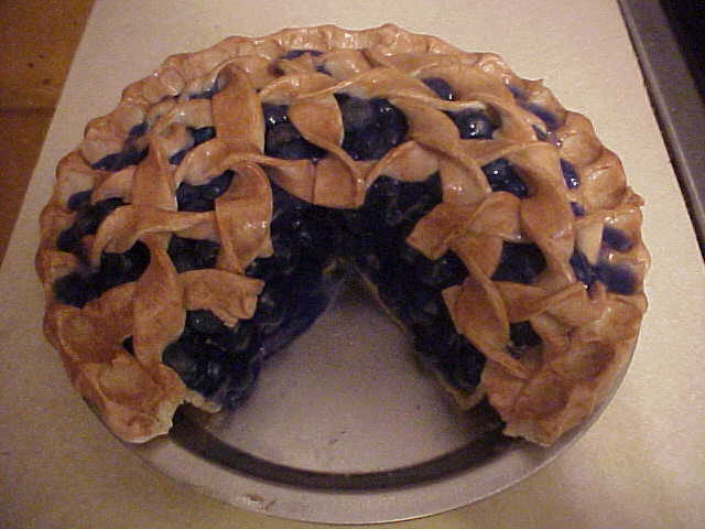 Blueberry Pie With Slice Out