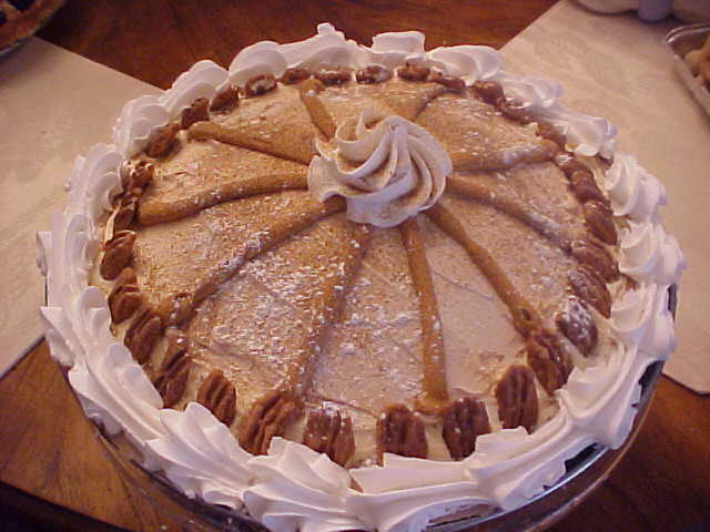 Peanut Butter Pie w Pecans and Carmel