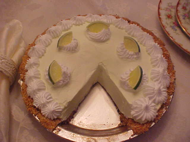 Keylime Pie With Slice Out