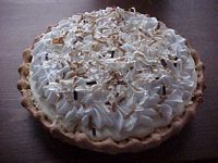 Bakery Style Coconut Topped Pie