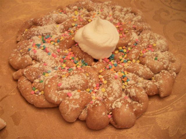 Sprinkled Funnel Cake with Dollop