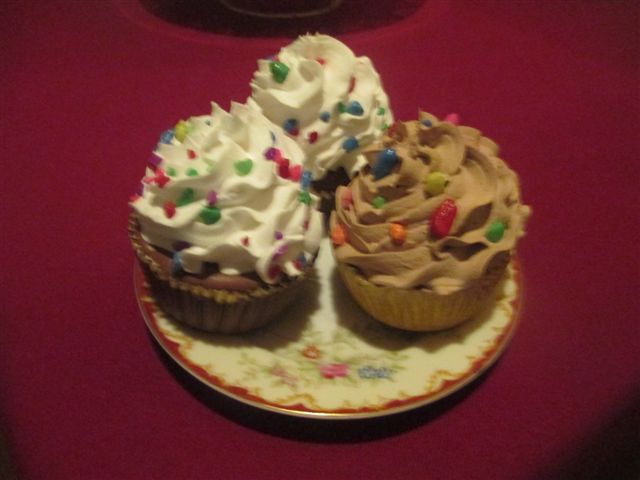 Assorted chocolate and vanilla base cupcakes