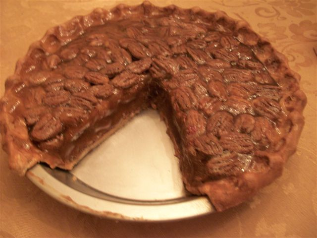Pecan Pie with Slice Out