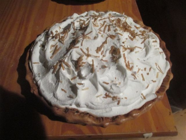 Coconut Designed Cream Whipped Pie (Used By Dawn Wells, (Maryanne Gilligan's Island)