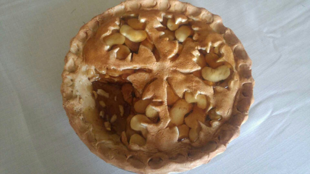 Apple Pie with Piece Out