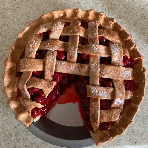 Cherry Pie With Slice Out Flat Top