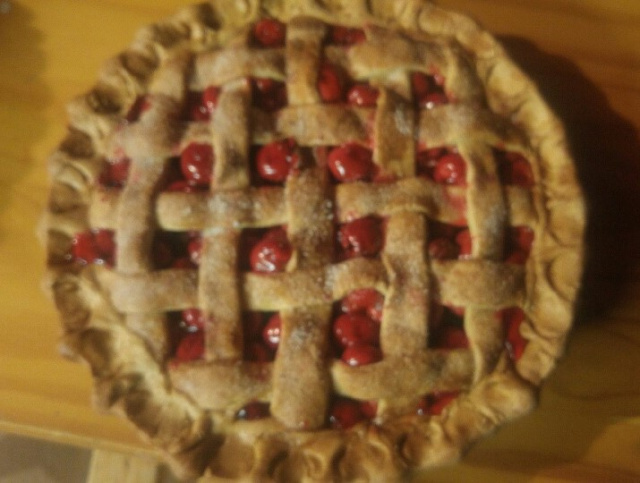 Plain Sugar Topped Cherry Pie
