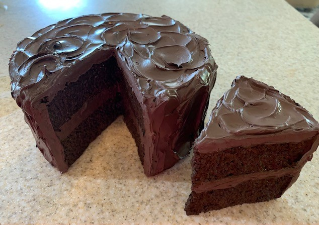 Creamy Chocolate Cake with Slice Out