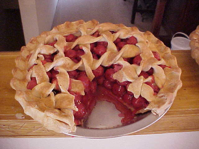 Cherry Pie With Slice Out