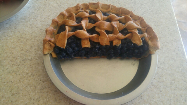 Half Blueberry Pie