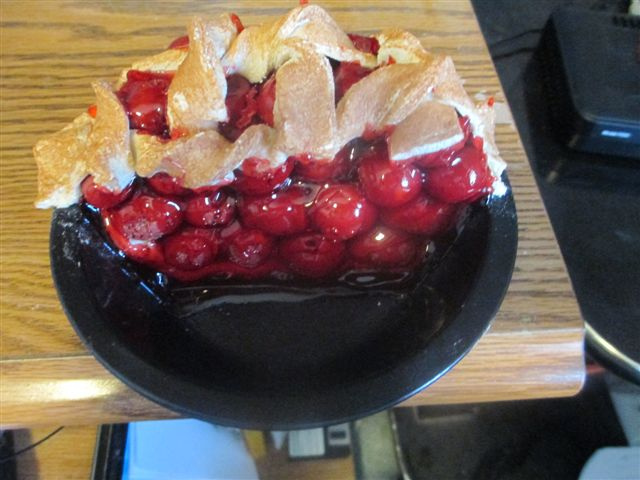 Overstuffed Half Cherry Pie