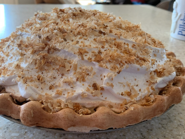 Piled High Coconut Meringue Pie