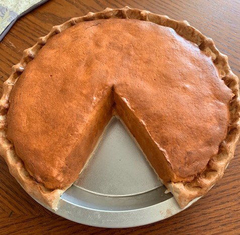 Pumpkin Pie with Slice Out