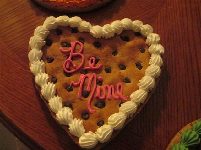 Be Mine Heart Cookie Cake