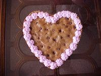 Traditional Heart Cookie Cake