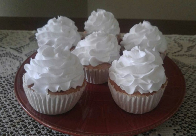 Vanilla Based White Fluffy Frosted Cupcakes