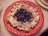 Blueberry Topped Funnel Cake
