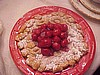 Cherry Topped Funnel Cake
