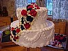 Fancy Flowered Tier Cake