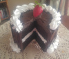 6 inch Luscious Chocolate with Vanilla Cake with Slice out