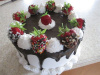 Assorted Designed Strawberry Topped Cake