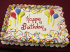 Colorful Balloons Birthday Cake