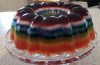 Rainbow Deluxe Jello bundt
