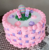 Basket Weave Easter Cake ( See The Whole Cakes Page for ALL Basketweaves)