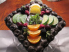 Dark Chocolate Assorted Fruit Topped Cake