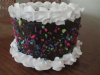 Chocolate Candy Sprinkled Cake w White Border