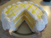 Lemon Cake Pie (See Our Cakes w Slice Out Page)