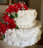 Red Flower Tier Cake