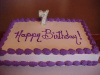 Happy Birthday with Number Indent Sheet Cake