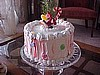 Holiday Candy Cream Cake